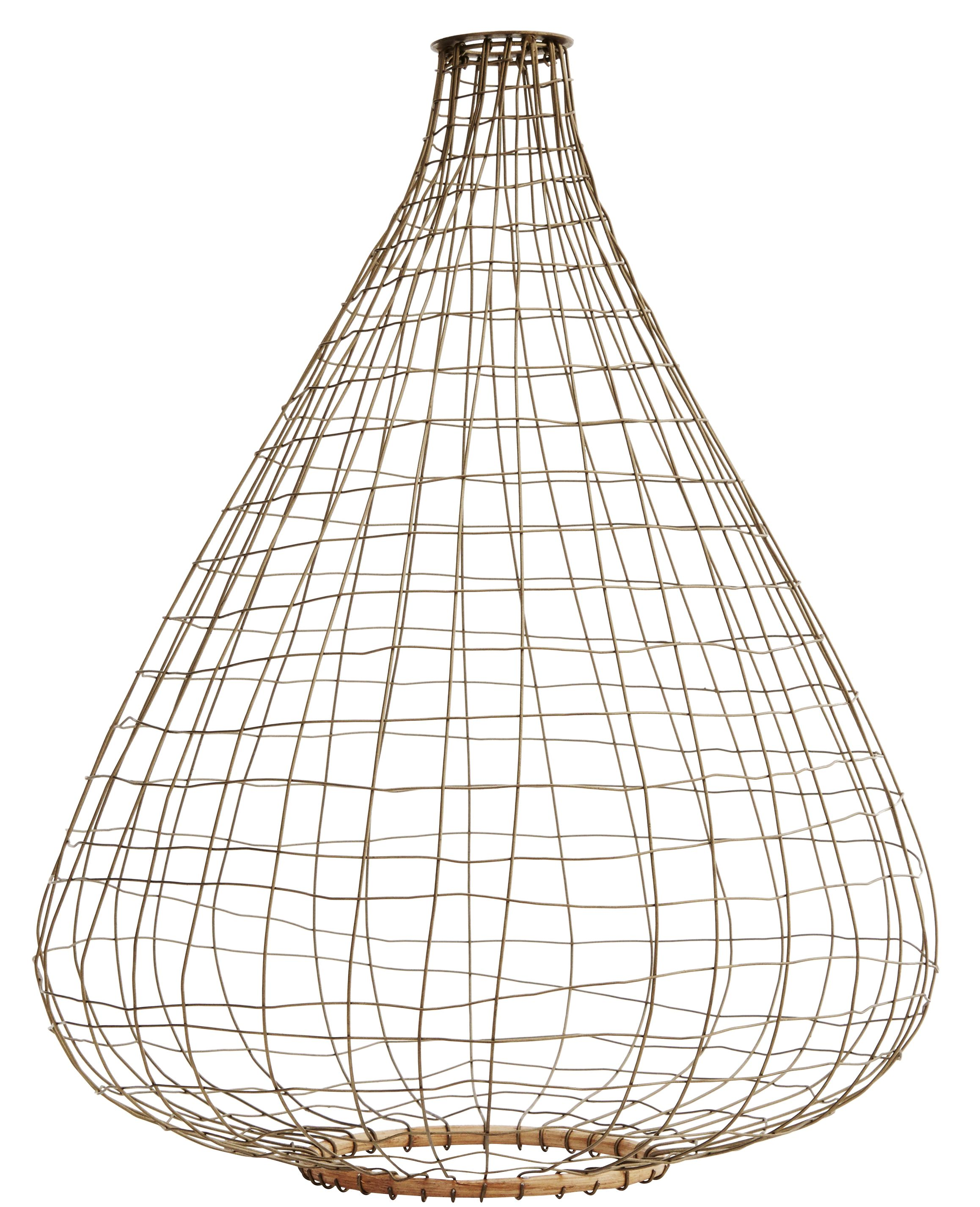 Madam stoltz bamboo bronze wire pendant shade greentooth Image collections