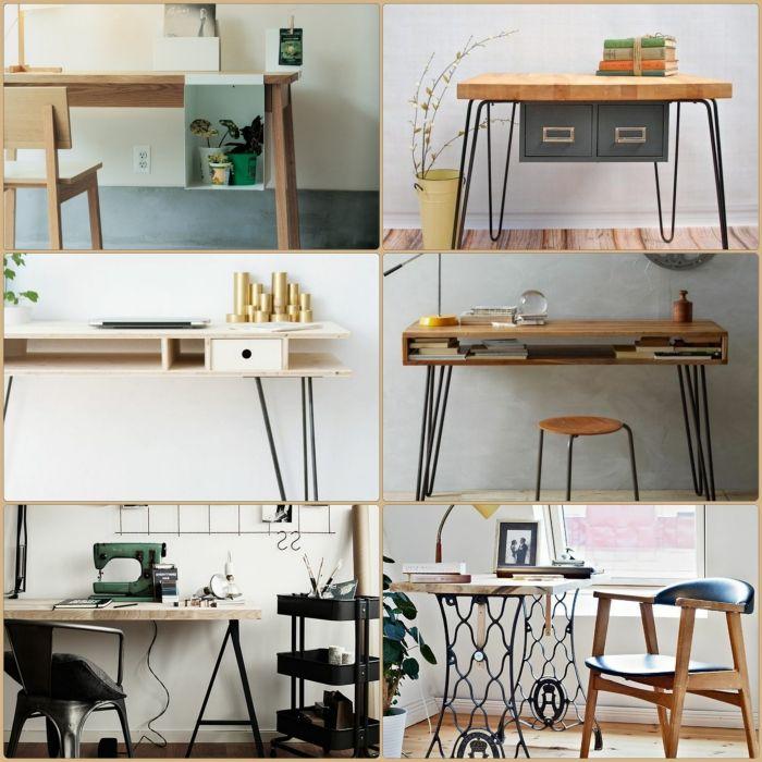 Diy Schreibtisch. Groer Schreibtisch Aus Paletten Selber Bauen