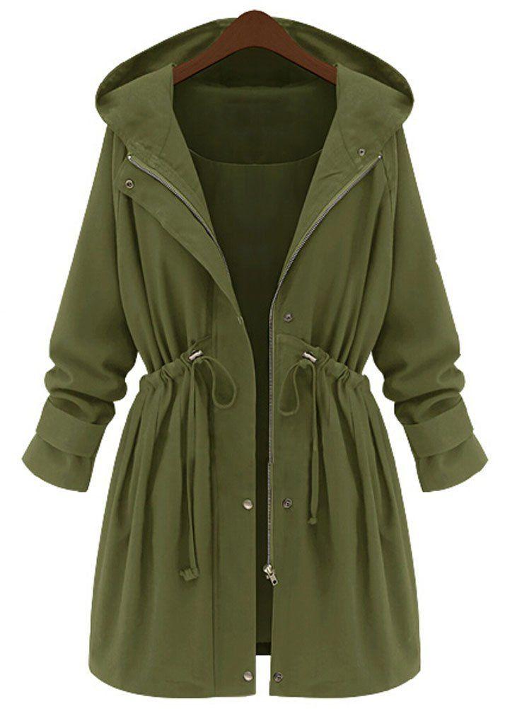 Frauen Winter Woolen Wasserfall Jacke Mantel Damen Belted Strickjacke Outwear Jumper