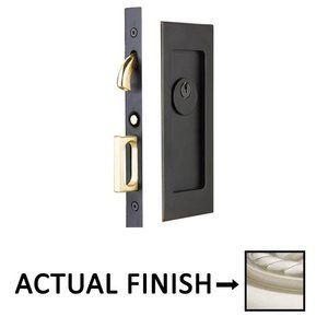 Emtek Hardware   Door Accessories   Modern Rectangular Keyed Pocket Door  Mortise Lock In Satin Nickel