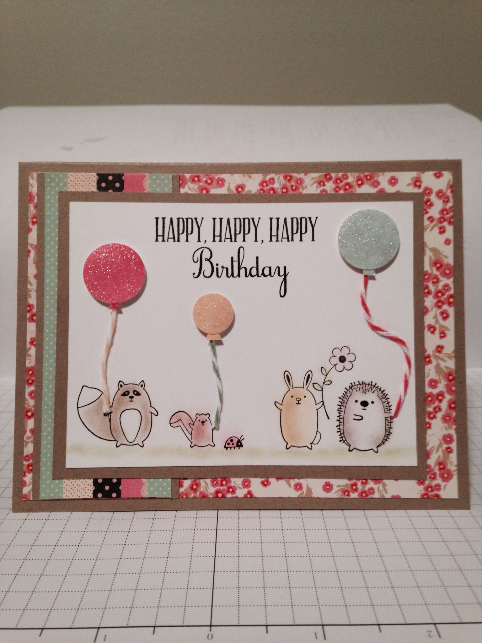 Sweet Handmade Birthday Card For A One Year Old Girl Stampin Up Lawn Fawn