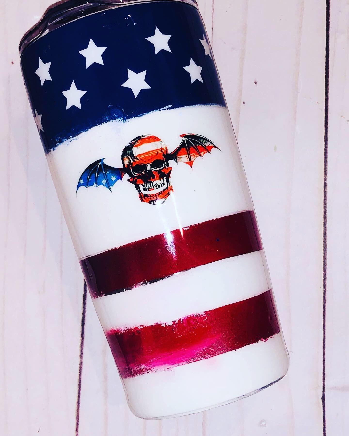 American flag tumbler folded american flag custom