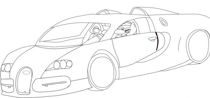 Bugatti Veyron Coloring Pages