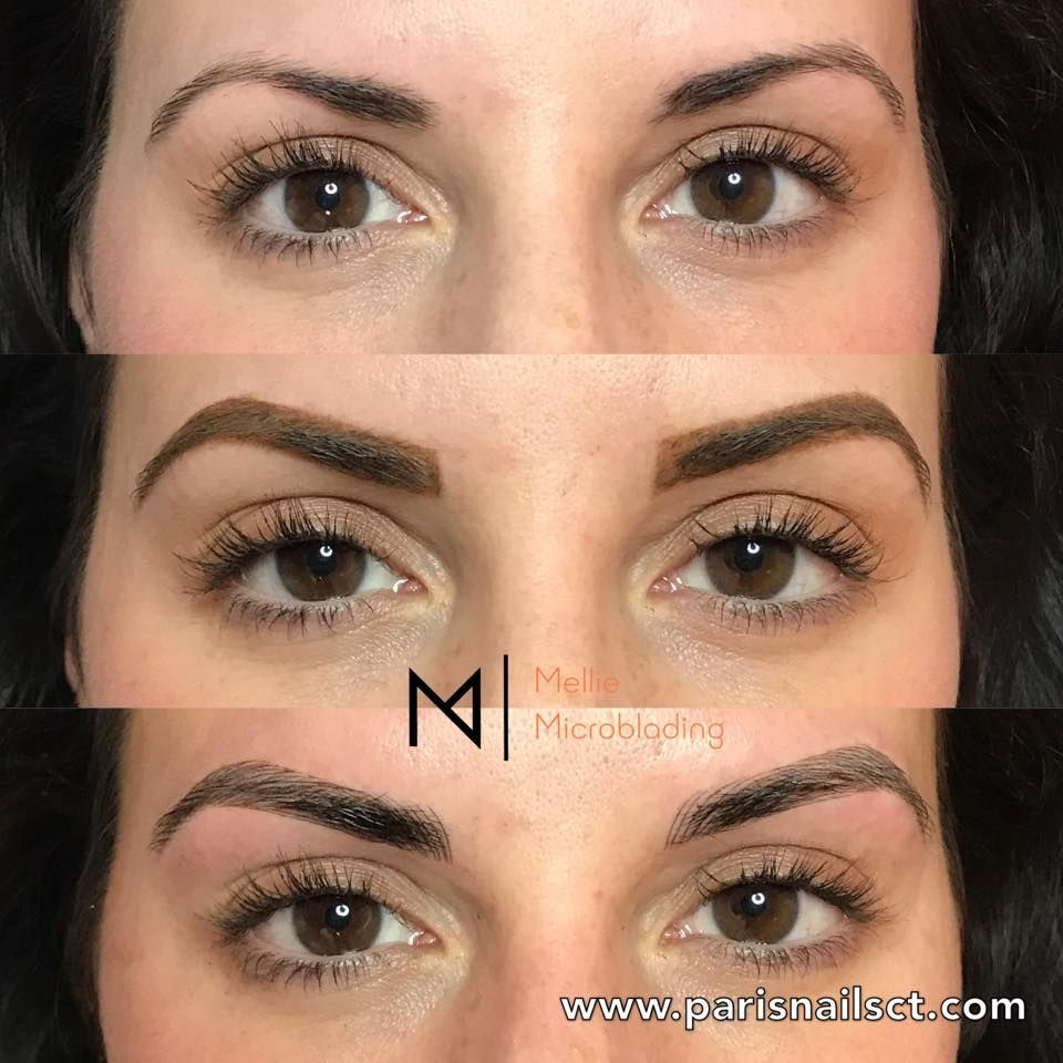 Before And After Eyebrows 3d Microblading Semi Permanent