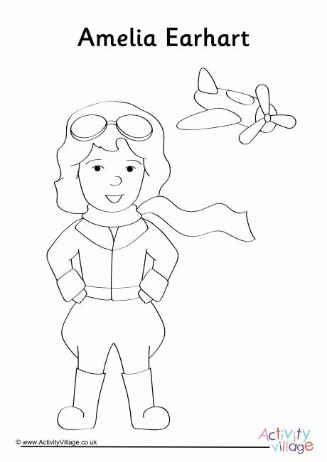 28 Amelia Earhart Coloring Page In 2020 Coloring Pages