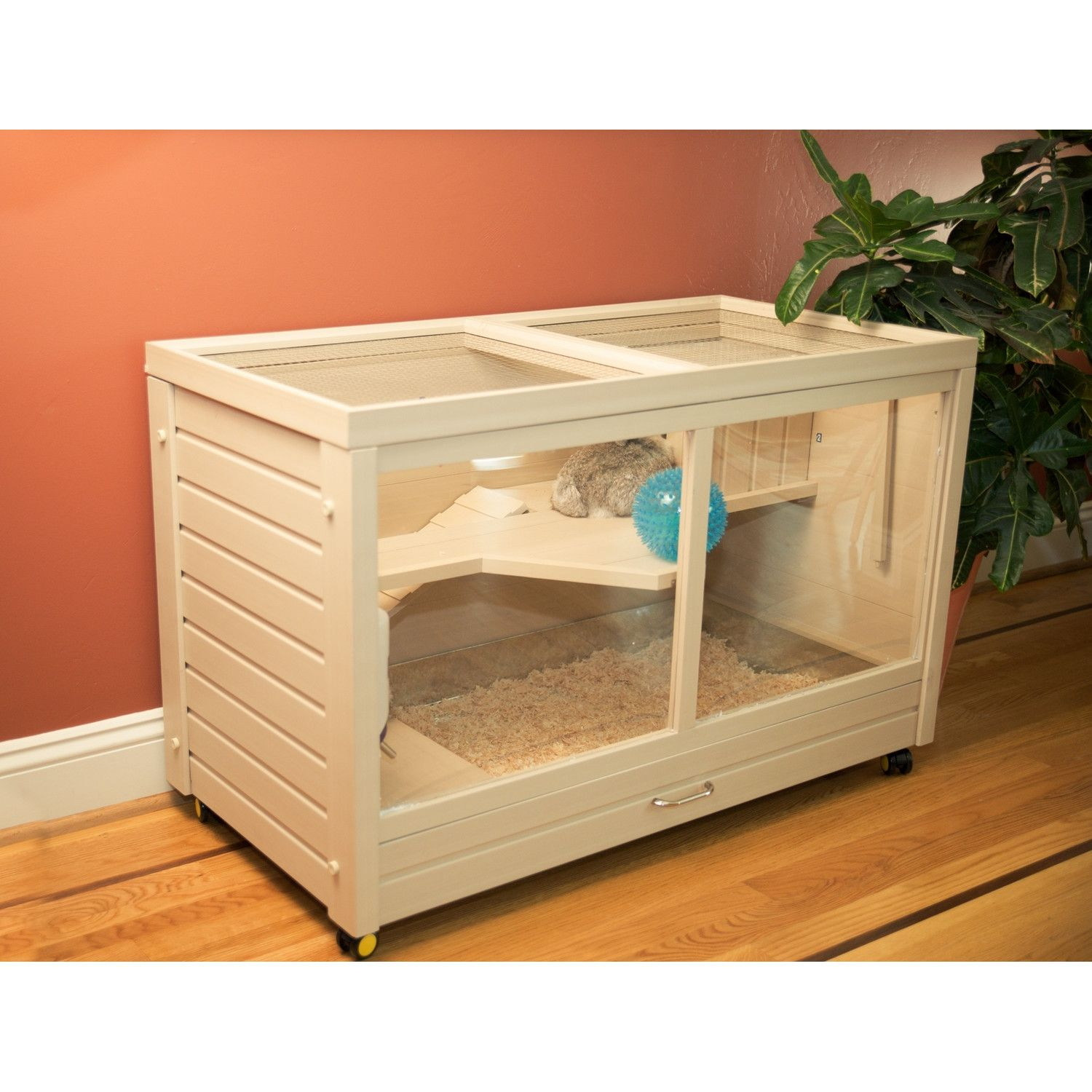 New Age Pet Park Avenue Indoor Small Animal Hutch Cute