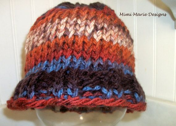 Hand Knit Toddler Hat with Ruffle Brim by mimimariedesigns on Etsy, $14.00
