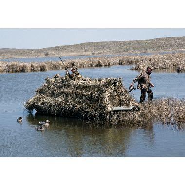 Cabela 39 s northern flight boat blind duck hunting for Cabela s fishing boats