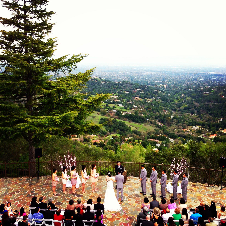 beautiful wedding venue where chateau deck at the mountain winery saratoga ca