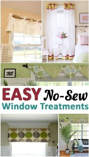 Easy No-Sew Window Treatments by frieda