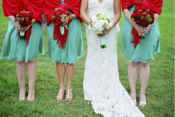Red And Mint Green Wedding Ideas