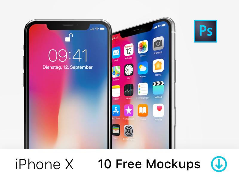 Iphone X 10 Free Psd Mockups Iphone Mockup Psd Iphone Mockup Free Iphone Mockup