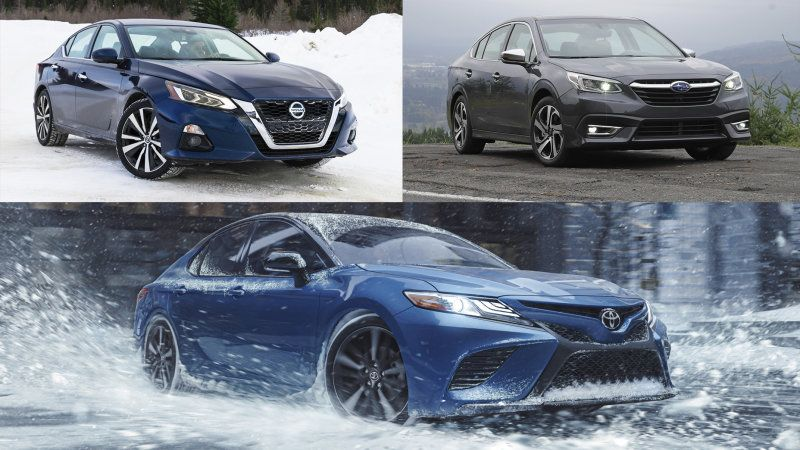 2021 Toyota Camry Awd Vs Subaru Legacy Vs Nissan Altima All