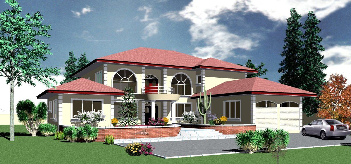 Home Plan Ohemaa House Plan 2,997 USD House plans