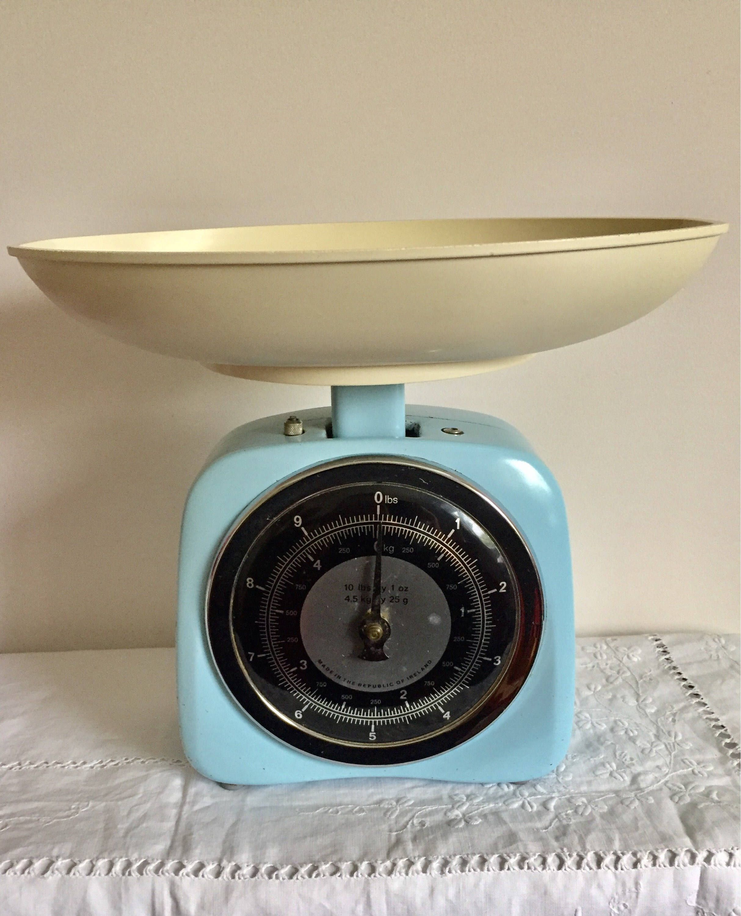 Vintage 1950 S Retro Large Kitchen Scales Gorgeous Blue Vintage