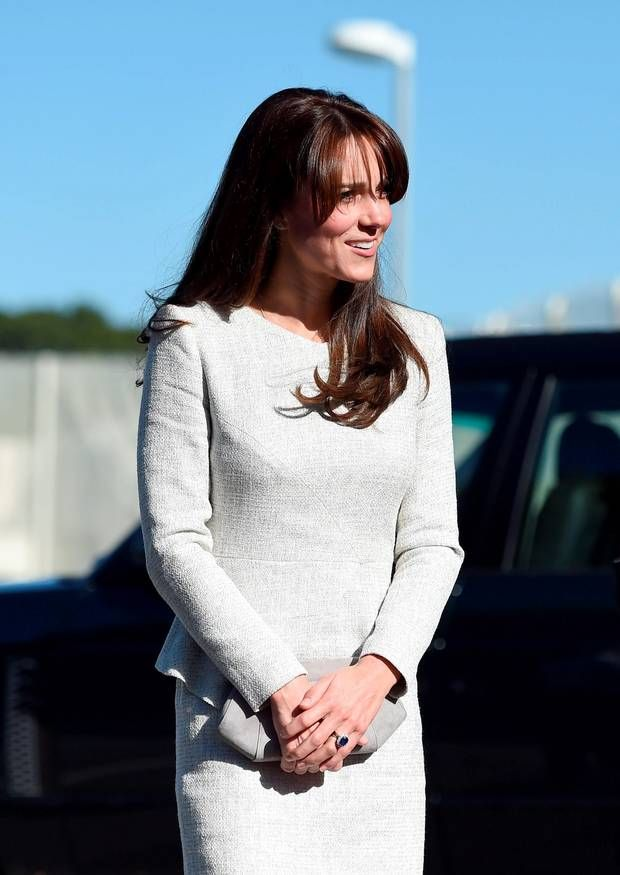 The Duchess of Cambridge arrives at HMP Send, Surrey, for a visit to the Rehabilitation of Addicted Prisoners Trust. Picture: Andrew Matthews/PA Wire