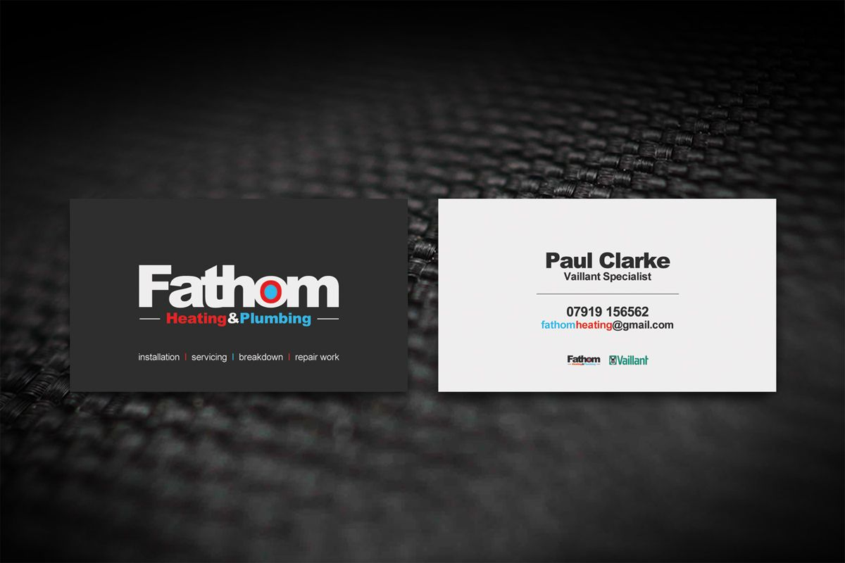 Business Card Design By Dirtyemm For Heating And Plumbing Engineer