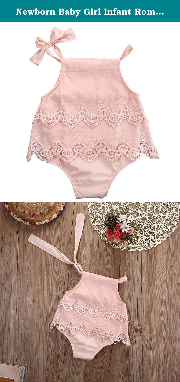 Lace dress for baby girl  Newborn Baby Girl Infant Romper Jumpsuit Bodysuit Tutu Lace Dress