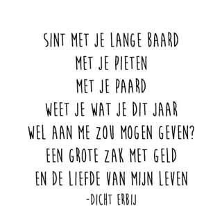Sinterklaas Gedicht Voor Een Single Sinterklaas Grappige