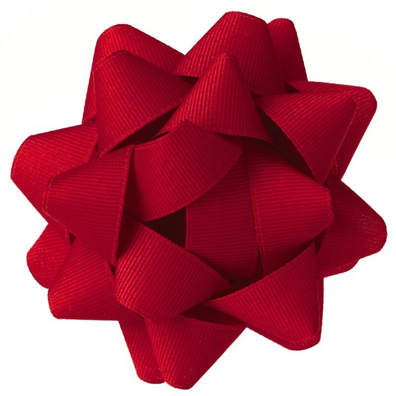 Red Grosgrain Ribbon Gift Bow, 4.6 #howtomakeabowwithribbon