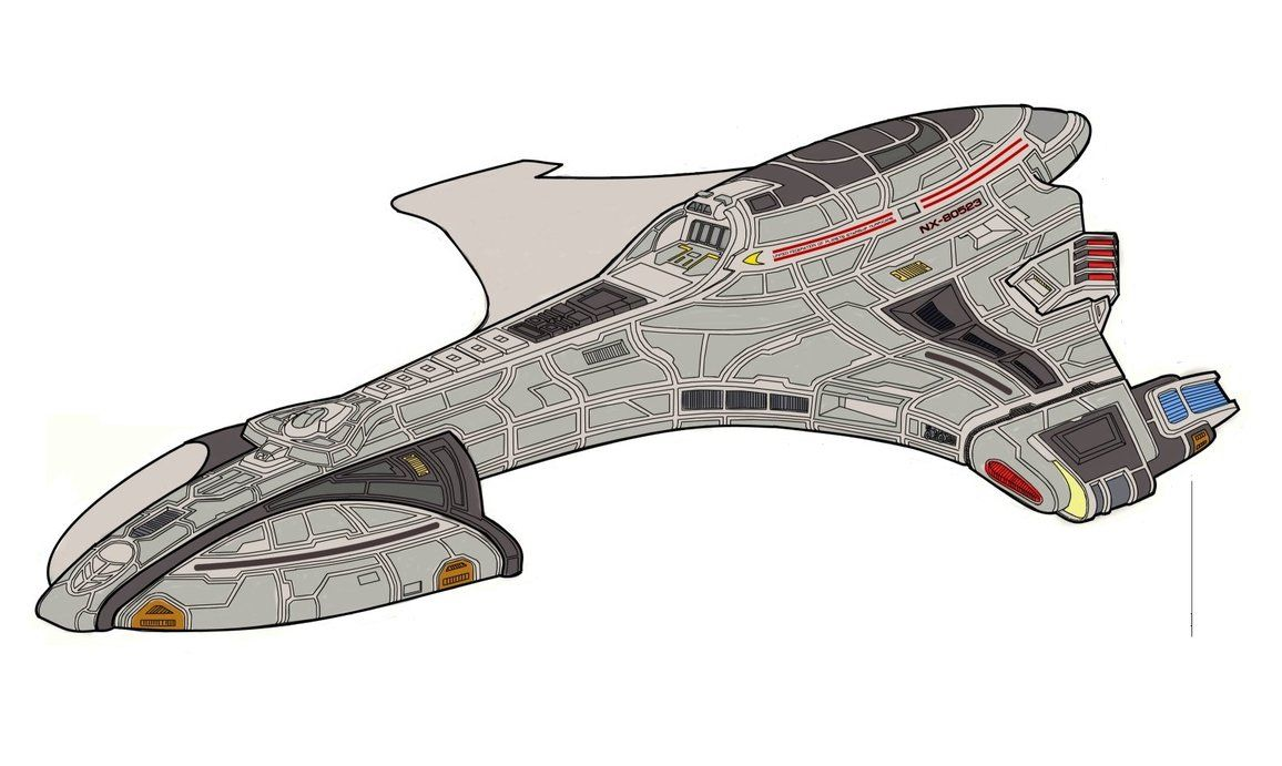 Hurricane class starship by suricatafx star trek tech for Wohnung star trek design