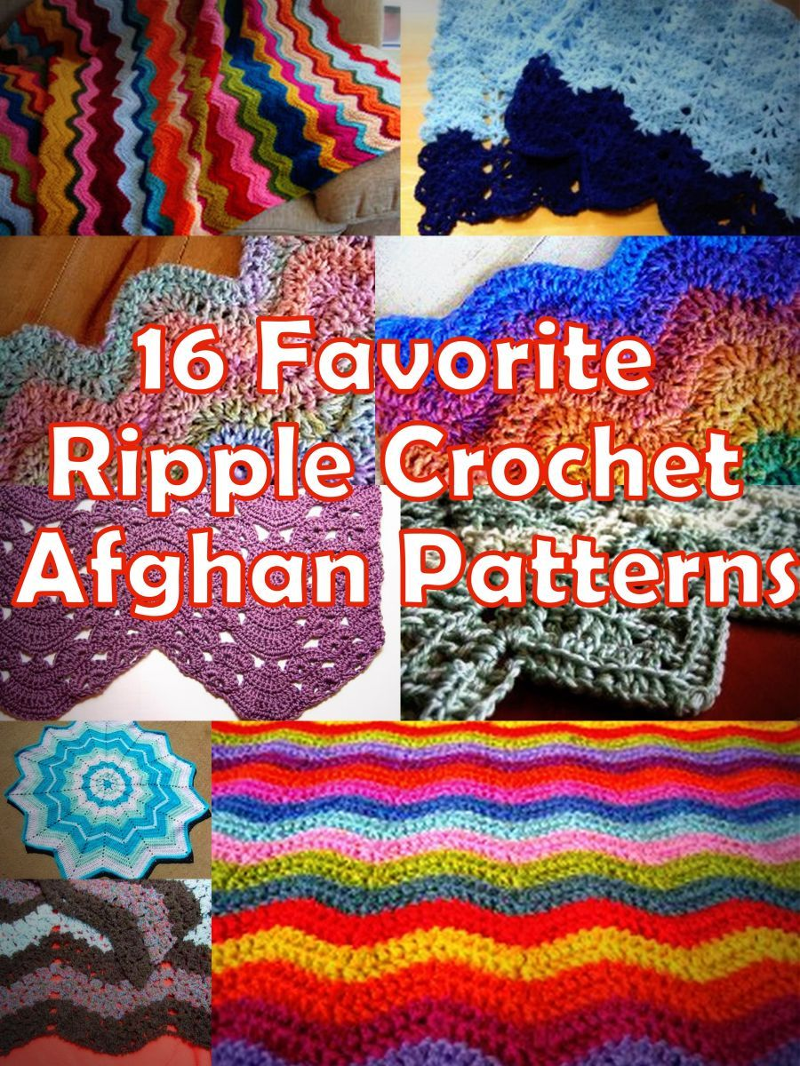16 Favorite Ripple Crochet Afghan Patterns | Mantas,frazadas y más ...