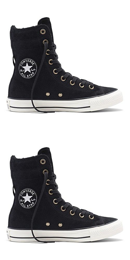 3a63f3212288 CONVERSE Chuck Taylor All Star Hi Rise Black Egret Suede Sneakers 553420C  Women Boot Shoes (6.5 Men  8.5 Women)