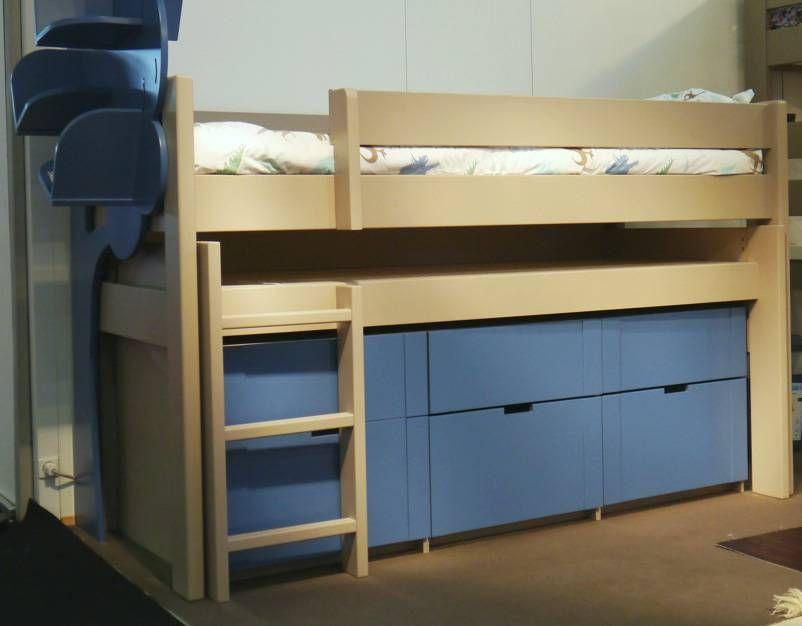 Bloc tiroirs sous le bureau coulissant grand tiroir derrière