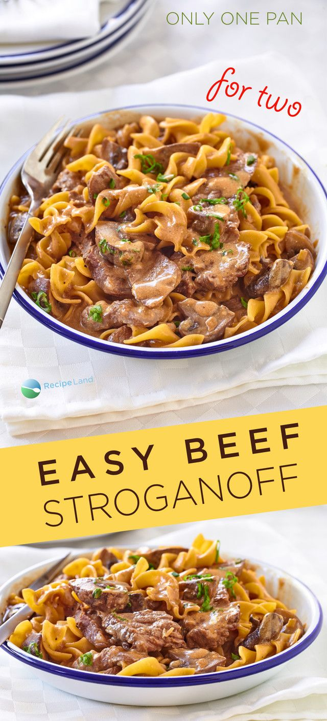 Easy Beef Stroganoff For Two Recipe In 2018 Food Pinterest