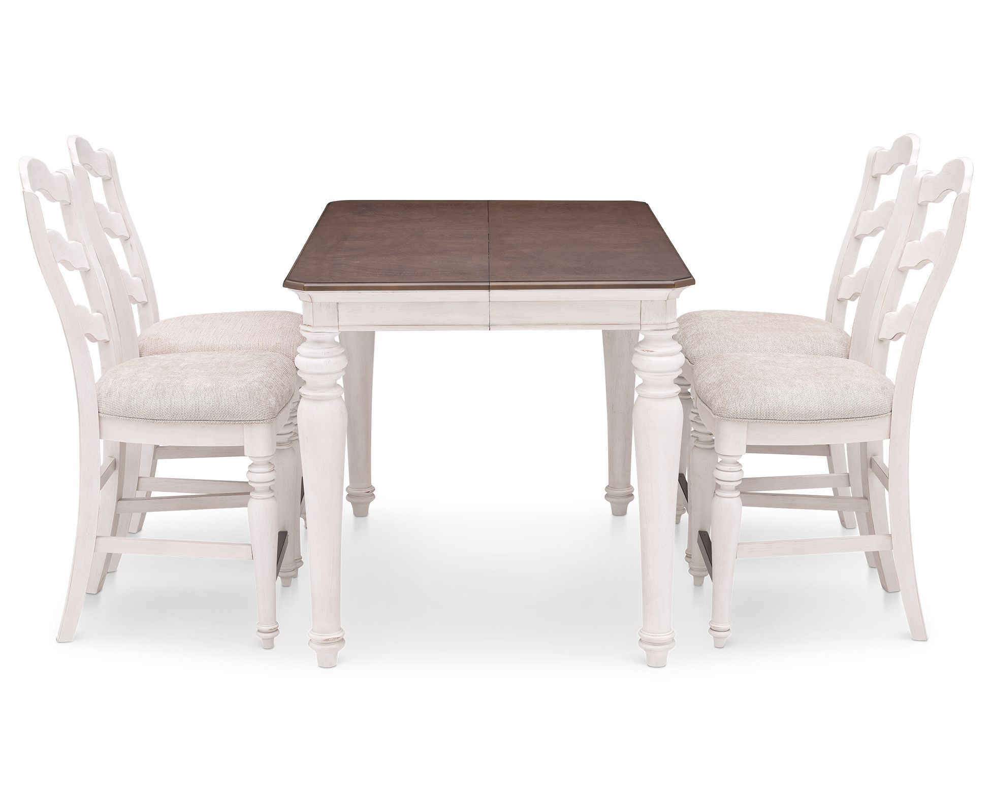 Cottage Lane Counter Height Dining Set Has Countryside Class In Rustic White Finish With Soft Brown Table To Pub Table Sets Counter Height Table Rowe Furniture