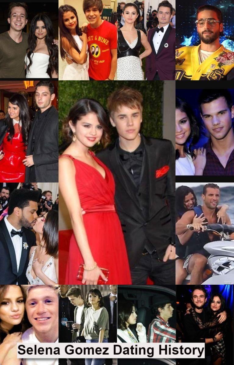 Selena Gomez dating historie liste