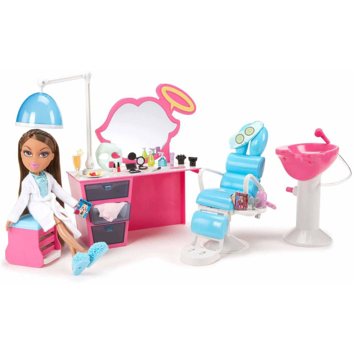 Bratz Sleepover Spa and Hair Studio - Walmart.com | Miniature salon ...