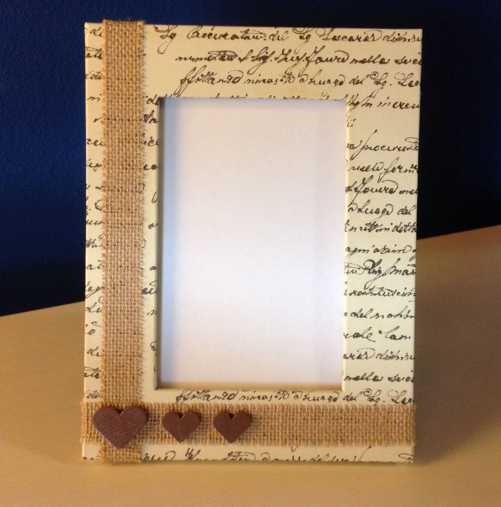 Handmade cardboard frame.. If you like it, visit my Dawanda shop ...