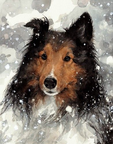 Custom Pet Portrait 8x10 Realistic Dog Watercolor Painting Dog