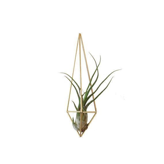 HRUSKAA Himmeli Prism Ornament | Air Plant Hanger | Geometric Hanging Mobile | Minimalist Home Decor