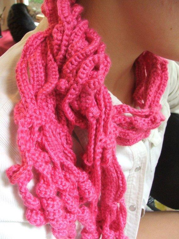 New Crochet Scarf Pattern Curly Vines Crochet Pattern Permission