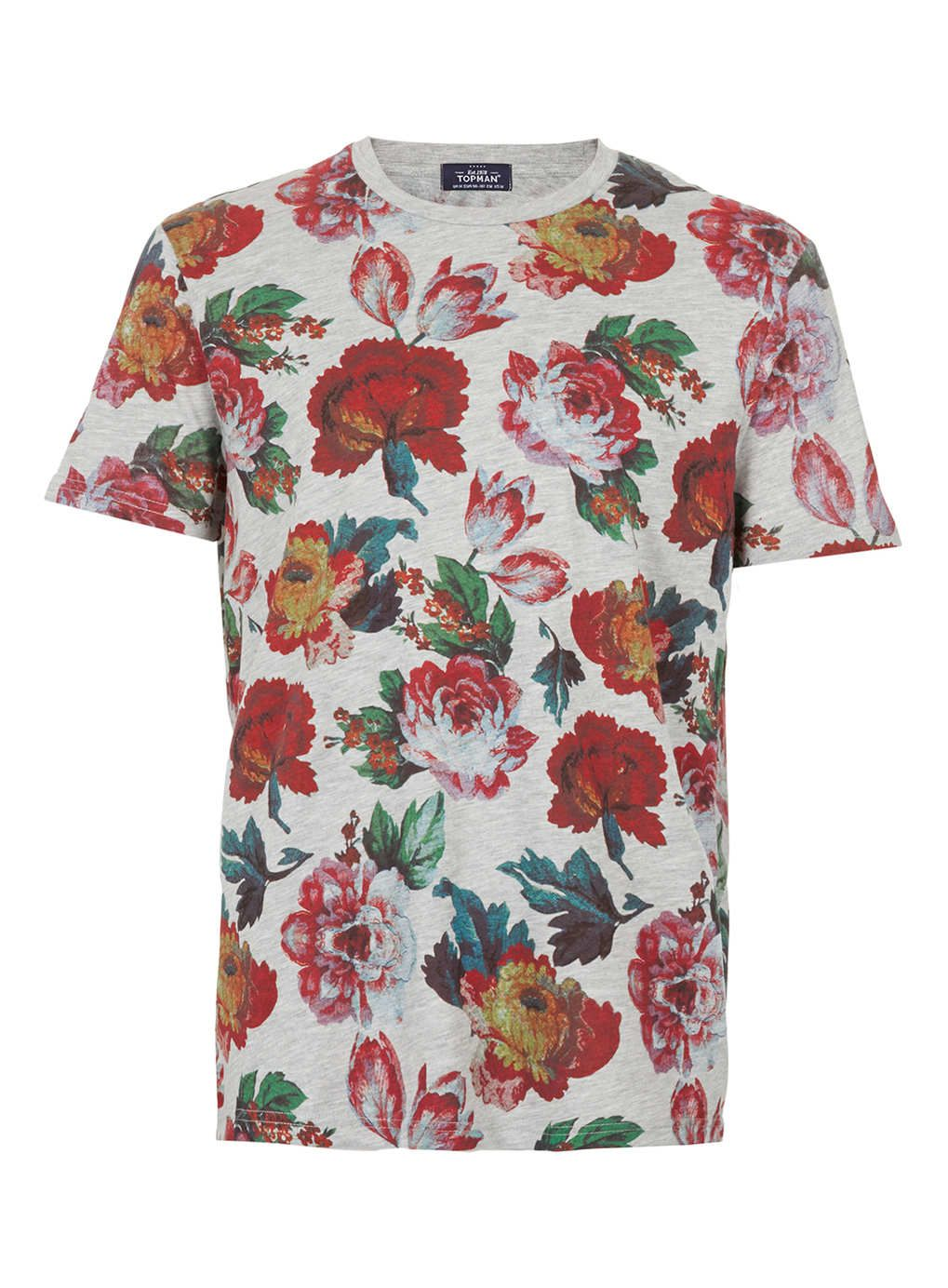 844ad37d2277 TOPMAN roses t-shirt | Lavish Cartel fashion | Grey shirt dress ...