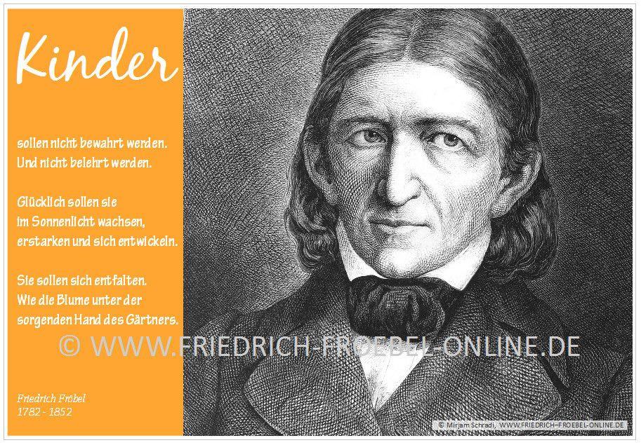 Poster A2 Friedrich Fröbel Kinder Nicht Bewahren Und