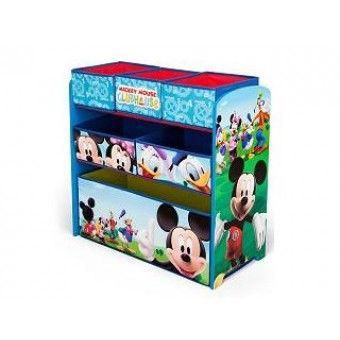 Mickey Mouse TB84847 Houten Speelgoed Opbergkast