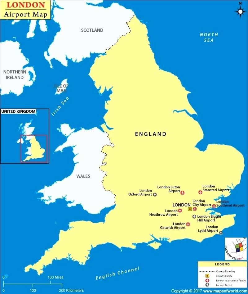 Map Of England Showing Airports.Download London England On Map Major Tourist Attractions