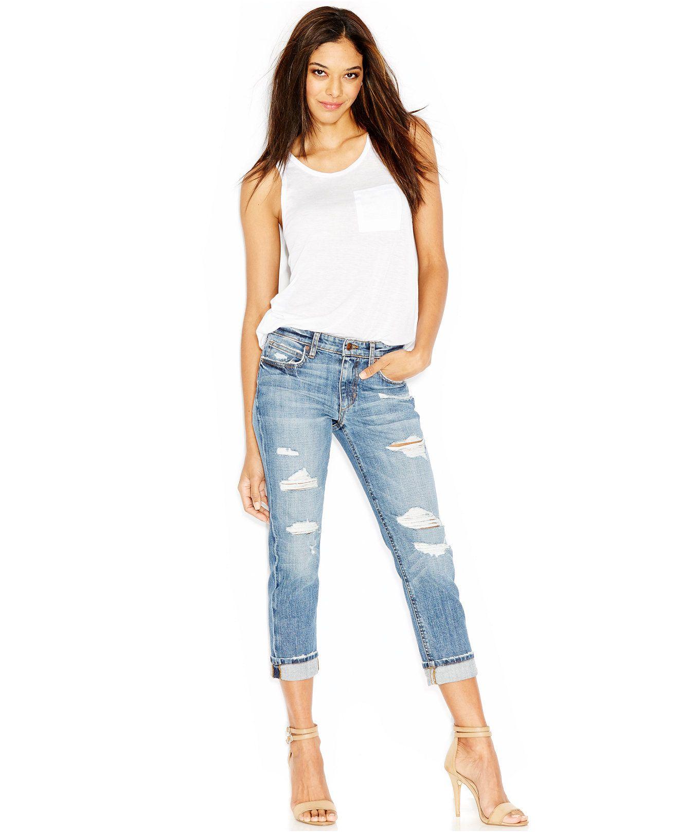 Joes boyfriend slimfit cropped jeans gessa wash jeans