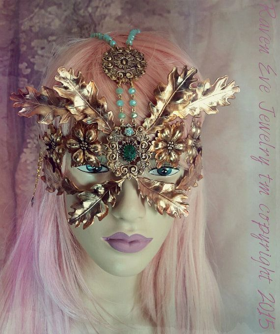 Farrah. ON SALE Queen Of The Forest Fairy Mask Vintage By