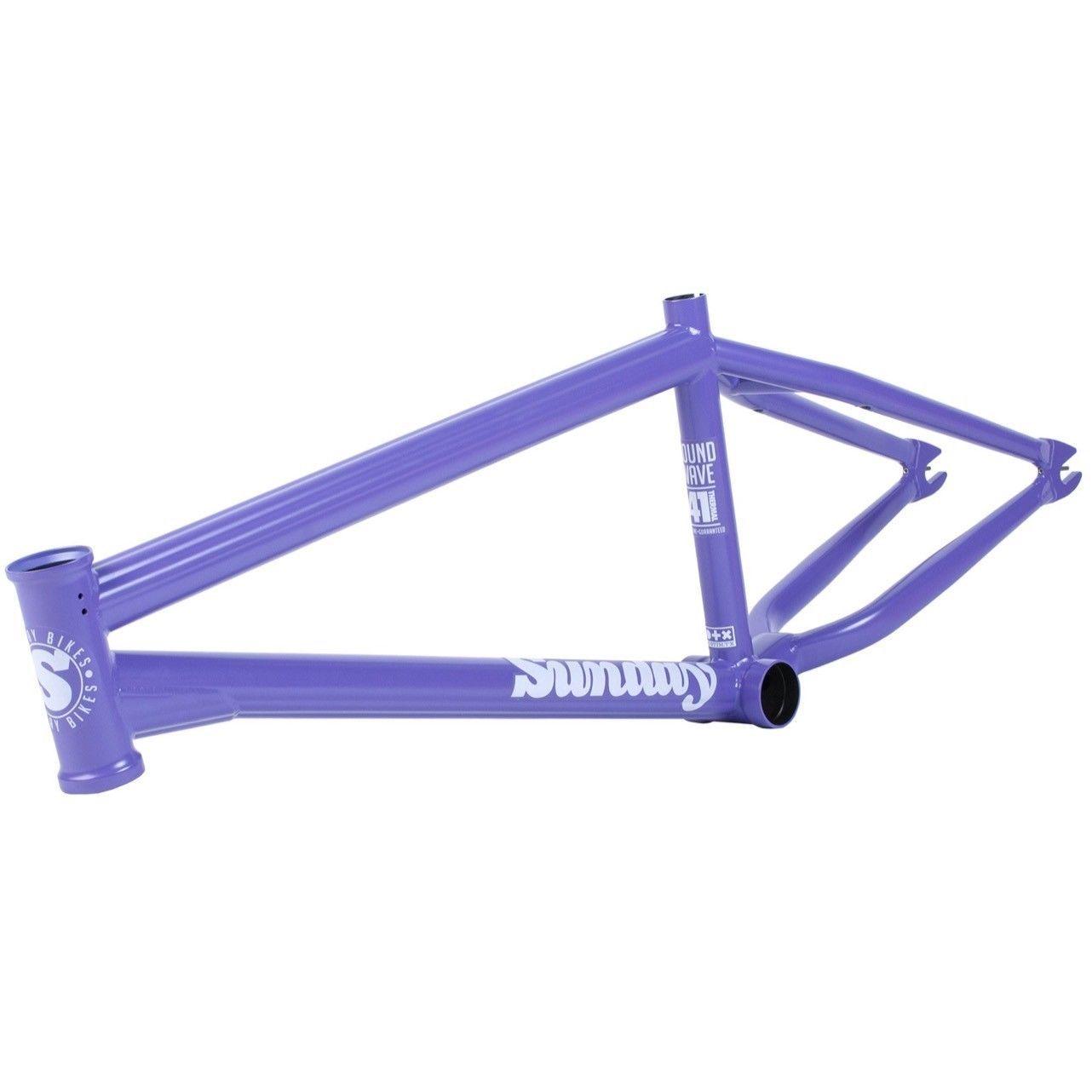 Sunday bmx bike soundwave v2 bicycle frame purple gary young fit ...