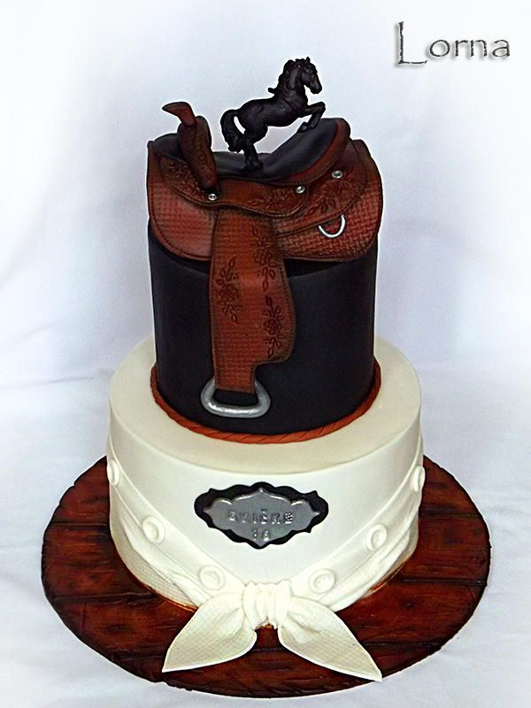 Guitar And Cowboy Hat Birthday Cakes