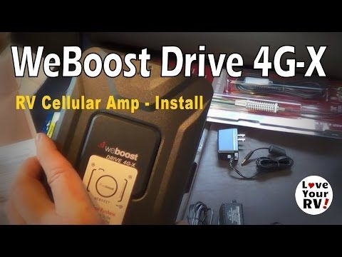 Installing The Weboost 4g X Rv Cellular Booster Kit Rv Fifth Wheel Trailers Cellular