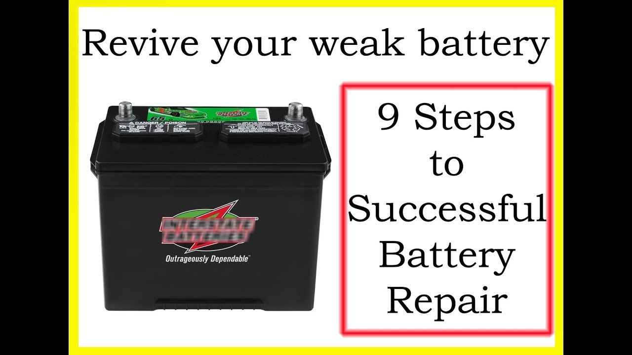 Youtube How To Recondition A Dead Battery in 2020 (With