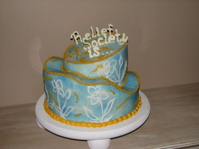 Relief Society b-day 2010 By Susan's Cake Studio