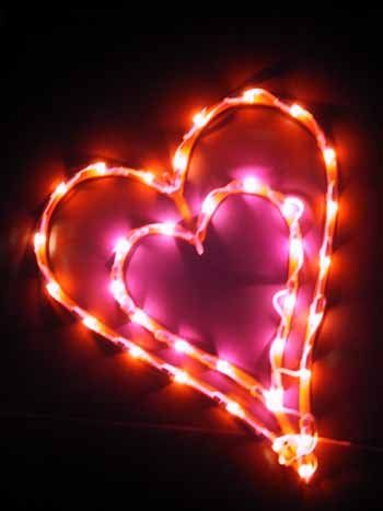 Amazon Com Double Heart Lighted Window Decor 14 Seasonal Celebration Lighting Heart Lights Window Decor Lovely Valentine