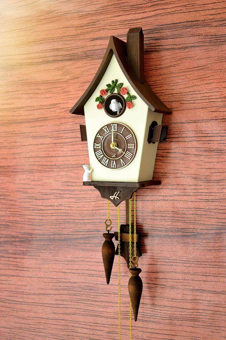 Cuckoo Clockwall Clock Modern Cuckoo Clock Home Decorhand Etsy Modern Cuckoo Clocks Cuckoo Clock Clock Art