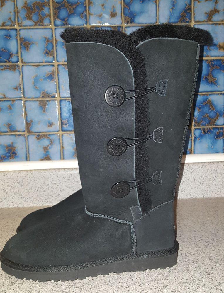 5633df2be7f UGG Bailey Button Triplet Triple Button 1873 Women's Boots Black ...